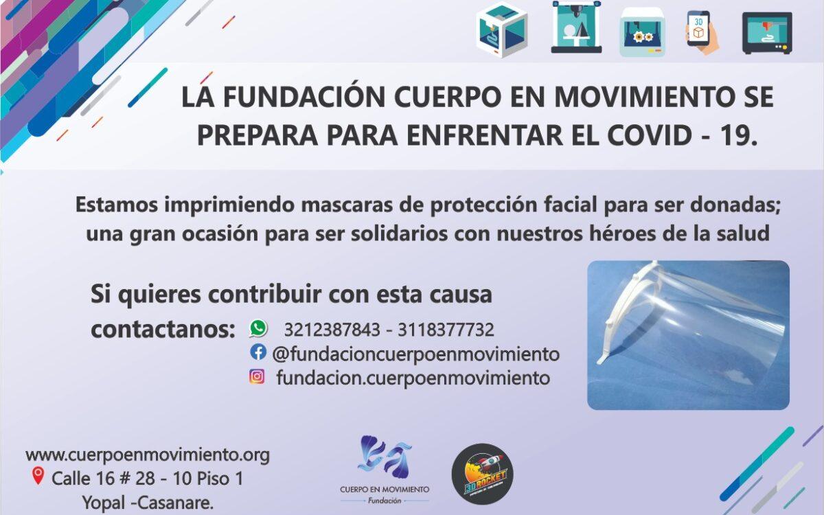 FUNDACION CUERPO EN MOVIMIENTO REALIZA DONACIÓN DE MASCARAS  PARA PERSONAL DE LA SALUD